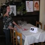 Ariella setting up the restaurant