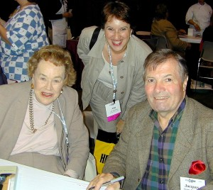 Anne Kleinberg with Julia Child & Jacques Pepin